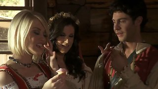 Sexy Ash Hollywood And India Summer Folk Threesome
