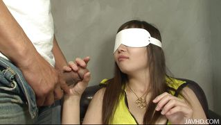 Japanese Milf Blindfolded And Pussy Rubbed