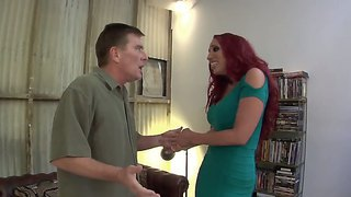 Flamboyant Foxy Red-Head Star Kelly Divine Seducing Kyle Stone To Get Fucked Up