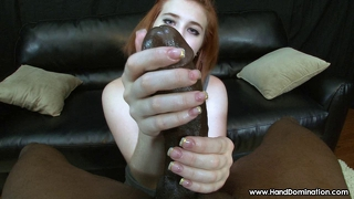 Redhead Falls In Love With Bbc During Interracial Handjob