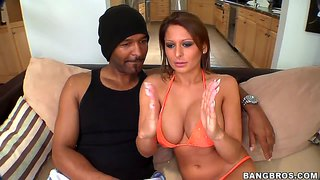 Alison Star Versus A Big Black Dick