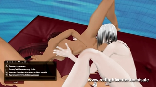 Threesome 3D Virtual Sex Pool Party