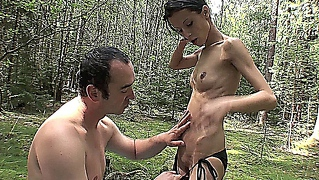 Skinny Czech Bitch Getting Fucked In The Forest