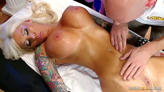 Johnny Sins Fingers His Massage Client Lolly Ink