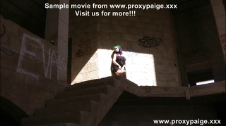 Anal Self Fisting At Abandon Building Place Proxy Paige