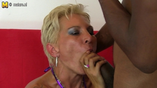 Mature Skinny Mother Takes Young Bbc