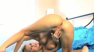 Stunning Blonde Renata Fingers Her Pussy Then Fucks It With Toys