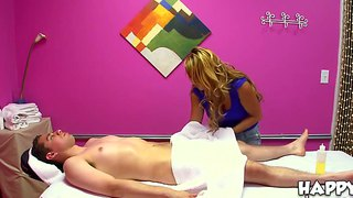 Long Haired Babe Baylee Lee Gives Luther Sexy Massage