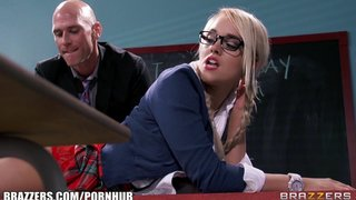 Kinky Blonde Schoolgirl Is Spanked And Fucked By Her Prof