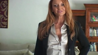 Mature Business Lady Presents Interracial Handjob