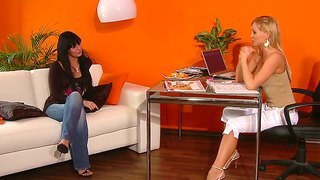 Gorgeous Stacy Dasilva Gets Very Horny While Attending To Porn Interview