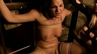 Sexy mistress dominating her slavegirl
