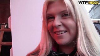 Attractive Blonde Amy Gets Filmed In Close Up