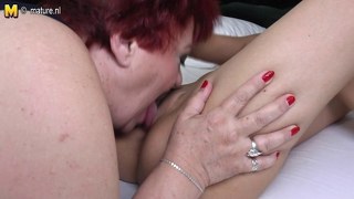 Hot Daughter Fucks Mature Fat Lesbian Aunty