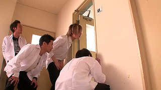 Yuna shiina toiling hard in public school toilet