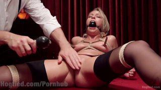 Bound Blonde Squirting Babe