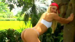 Extremely Hot Blonde Macy Cartel Is A Perfect Lady For Jmac's Weekend At The Backyard