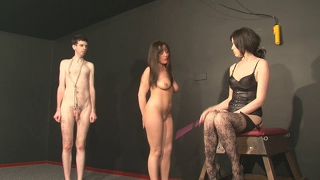 Mistress Playing With 2 Slaves