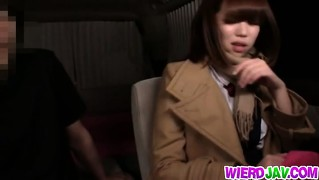 Sexy Japanese Chick Gets Screwed Hard In Car