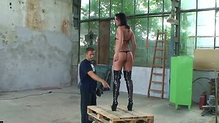Backstage With Wild Brunette Shalina Divine Who Is Ready To Be Fucked At This Abandoned Warehouse