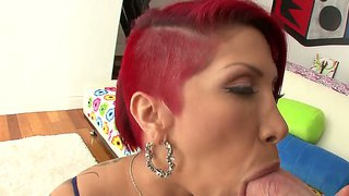 Redhead Babe Kayla Carrera Enjosy One Huge Cock Deep In Her Mouth And Ass Too