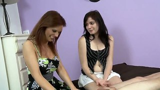 Alexis Blaze And Syren De Mer Give Handjobs