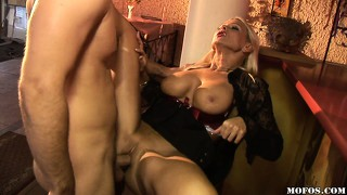 All over the pool table, the gorgeous babes get their pussies pounded hard