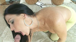 India Summer Makes A Hole In Her Pantyhose For A Hard Cock