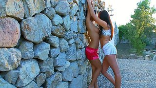 Mara And Adria Are Two Amazing Lesbians And Their Like To Get Naughty In Public Places