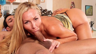 Sexy Tight Ass Blonde Milf Shows Off Her Cock Handling Skill