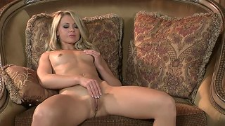 Milf On High Heels Is Playing With Her Pussy On The Sofe