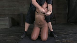 Chocolate Cutie Knelt And Mouth Fucked