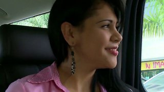 Sweet and naughty brunette kamila latina gets seduced while riding in the bang bus