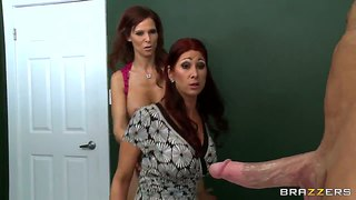 Tiffany And Syren Excuse Themselves With A Cock