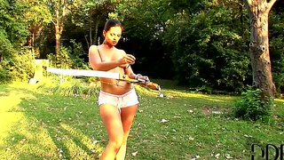 Eve Angel Is A Lustful Naked Archer
