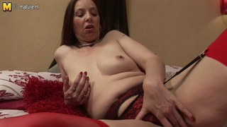 Naughty Wild Mother In Red Pantyhose