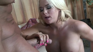 Classic Blond Porn Star Gets Banged On The Sofa
