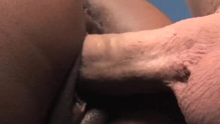 Ebony Slut In Interracial Scene With White Dude