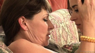 A hot cougar takes her young and foxy girlfriend to pound town