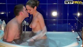 Slutty Russian Girl Anka Called Her New Hansome Boss For A Special Evening In The Bath