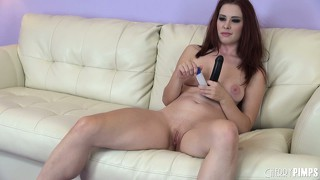 Melody jordan pleases herself anally with a long set of beads