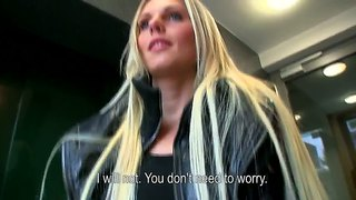 Sweet And Sexy Blonde Girl Katka Fucked Up In Ass At Interview!