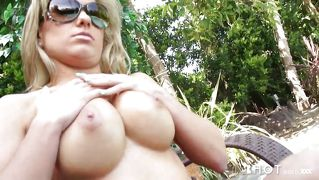 Fucking A Hot Blonde Outside