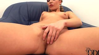 Allison is one horny bitch who haven't had sex in a while, but her black dildo really helps her