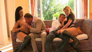Aletta Ocean Along With Horny Tarra White Are Having A Great Forusome Fuck Session
