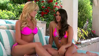 Angela Sommers And Her Friend Enjoy In Softcore Action