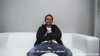 The young robert in czech gay casting
