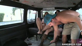 Rachel starr and kitty jerk and suck these dudes off for a cumshot