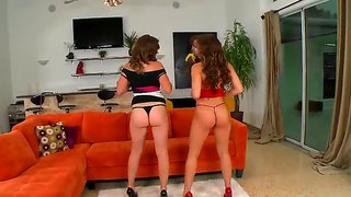 Jmac's hottest ex-girlfriends callie calypso and chrissy greene having fun with their pussies