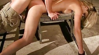 Gorgeous Blonde Gets Bondaged And Fucked